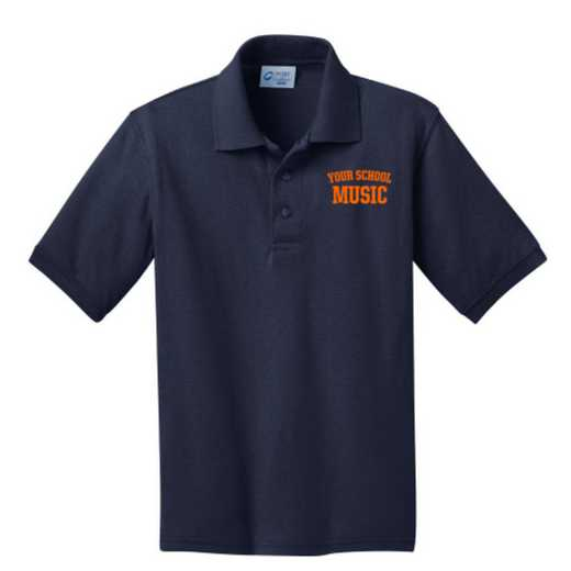 Youth Music Embroidered Jersey Polo Shirt