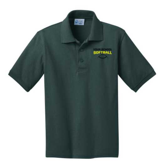 Youth Softball Embroidered Jersey Polo Shirt