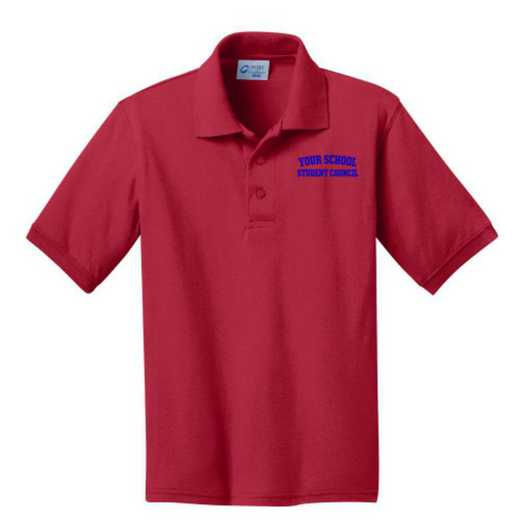 Youth Student Council Embroidered Jersey Polo Shirt