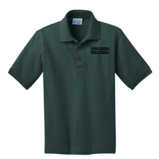 Youth Volleyball  Embroidered Jersey Polo Shirt