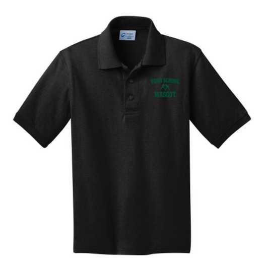Youth Wrestling Embroidered Jersey Polo Shirt