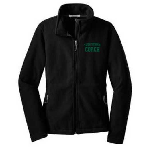 Coach Embroidered Women's Zip Fleece Jacket