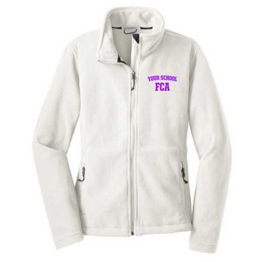 FCA Embroidered Women's Zip Fleece Jacket