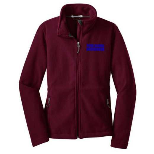 Newspaper Embroidered Women's Zip Fleece Jacket