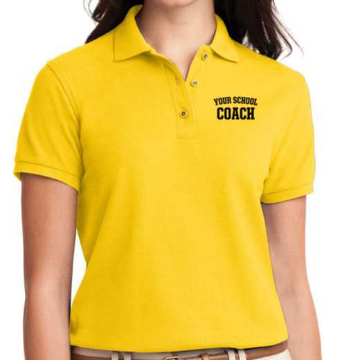 Coach Embroidered Sport-Tek Women's Silk Touch Polo