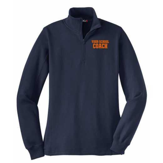 Coach Embroidered Sport-Tek Womens Qtr Zip Sweatshirt