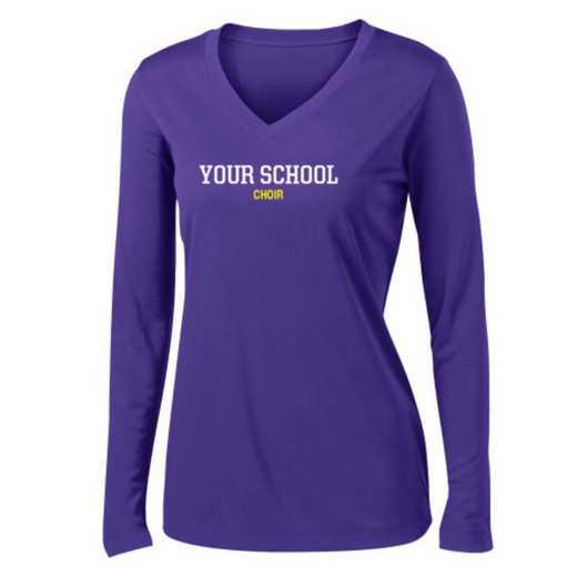 Choir Womens Sport-Tek Long Sleeve V-Neck Competitor T-Shirt