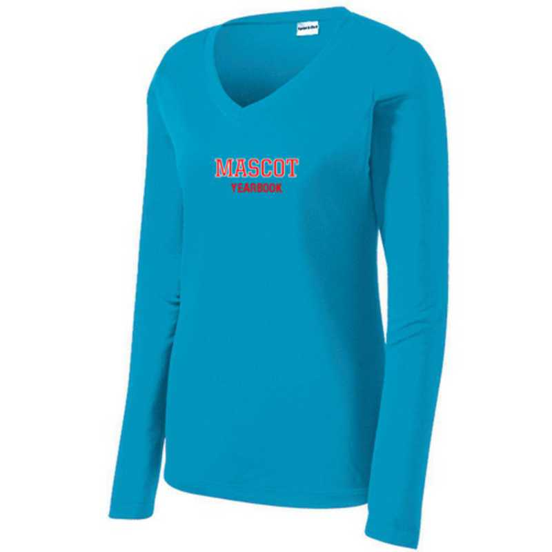 Womens Sport-Tek Long Sleeve V-Neck Competitor T-Shirt
