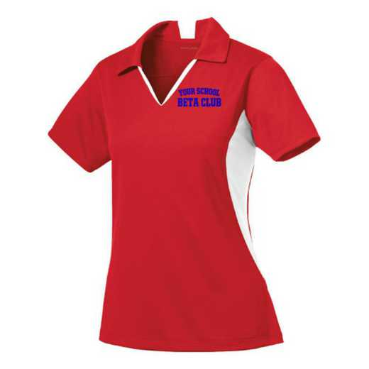 Beta Club Sport-Tek Embroidered Womens Side Blocked Sport Wick Polo