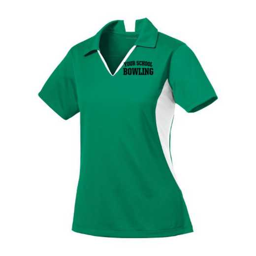 Bowling Sport-Tek Embroidered Womens Side Blocked Sport Wick Polo
