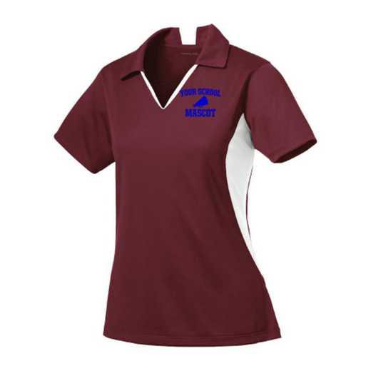 Cheerleading Sport-Tek Embroidered Womens Side Blocked Sport Wick Polo