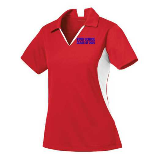 Class of  Sport-Tek Embroidered Womens Side Blocked Sport Wick Polo