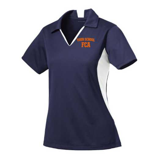 FCA Sport-Tek Embroidered Womens Side Blocked Sport Wick Polo