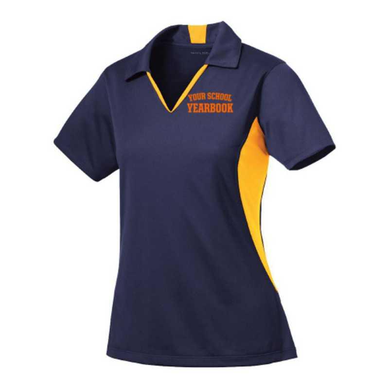 Women's Sport-Tek Embroidered Side Blocked Sport Wick Polo