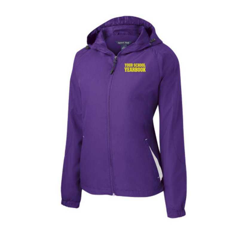 Women's Embroidered Lightweight Hooded Raglan Jacket