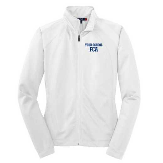 FCA Embroidered Womens Tricot Track Jacket
