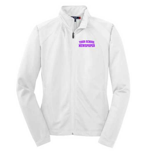 Newspaper Embroidered Womens Tricot Track Jacket