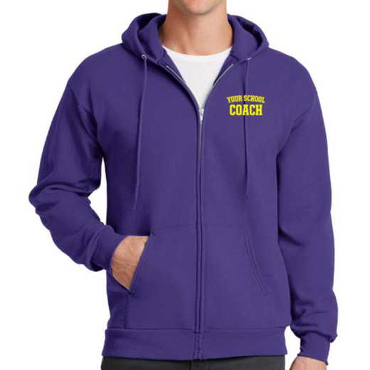 Coach Embroidered Full Zip Hooded Sweatshirt