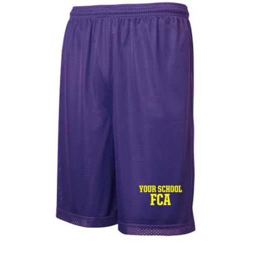 FCA Embroidered Sport-Tek 9 inch Classic Mesh Short