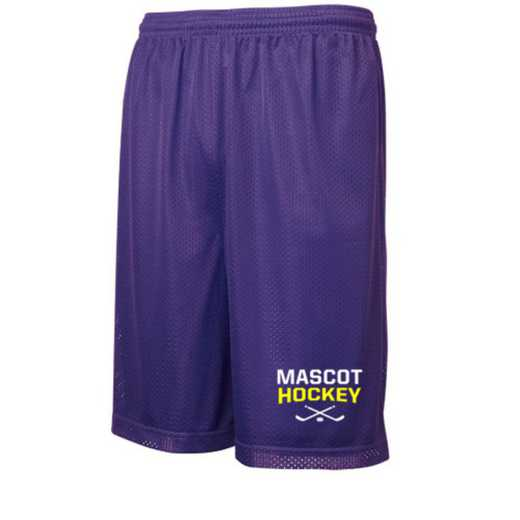 Hockey Embroidered Sport-Tek 9 inch Classic Mesh Short