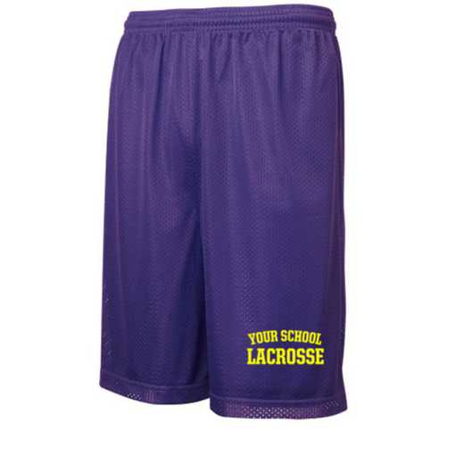 Lacrosse Embroidered Sport-Tek 9 inch Classic Mesh Short