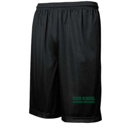Swimming and Diving Embroidered Sport-Tek 9 inch Classic Mesh Short