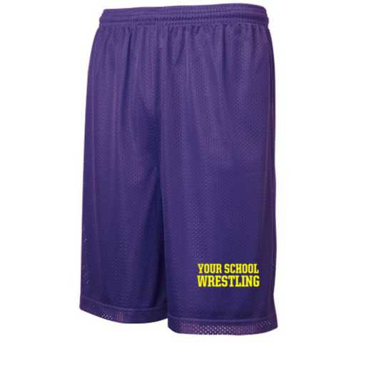 Wrestling Embroidered Sport-Tek 9 inch Classic Mesh Short