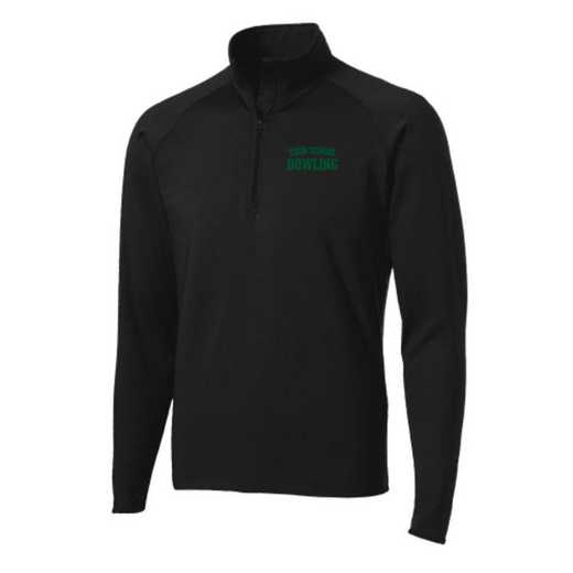 Bowling Sport-Tek Embroidered Mens Half Zip Stretch Pullover