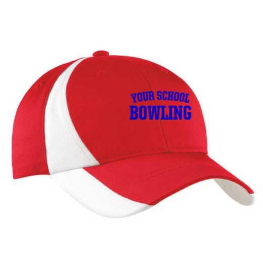 Bowling Embroidered Sport-Tek Color-Block Cap