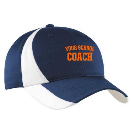 Coach Embroidered Sport-Tek Color-Block Cap