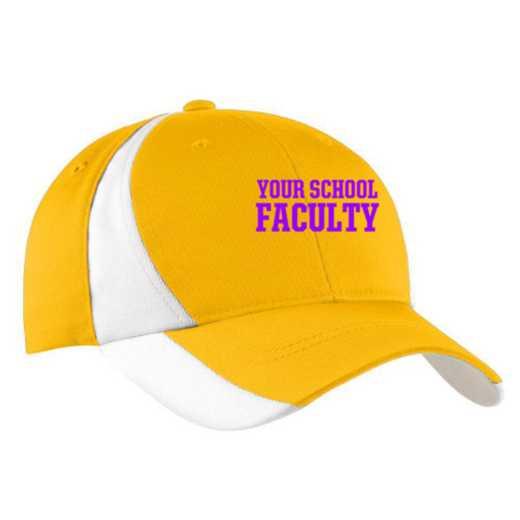 Faculty Embroidered Sport-Tek Color-Block Cap