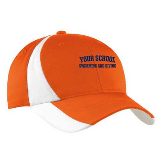 Swimming and Diving Embroidered Sport-Tek Color-Block Cap