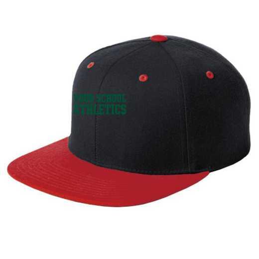 Athletics Embroidered Sport-Tek Flat Bill Snapback Cap