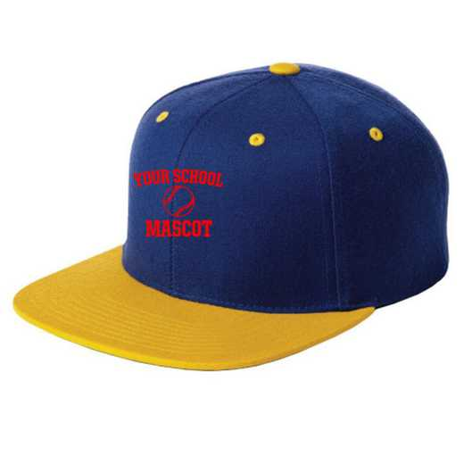 Baseball Embroidered Sport-Tek Flat Bill Snapback Cap