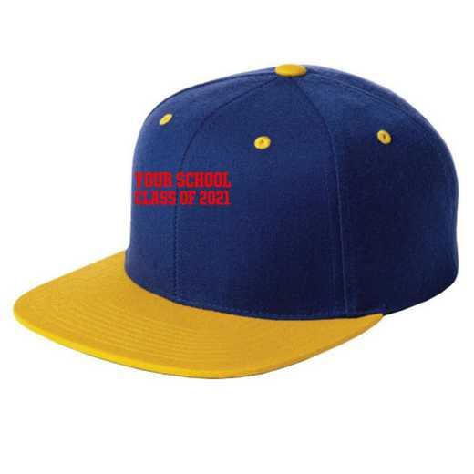Class of  Embroidered Sport-Tek Flat Bill Snapback Cap