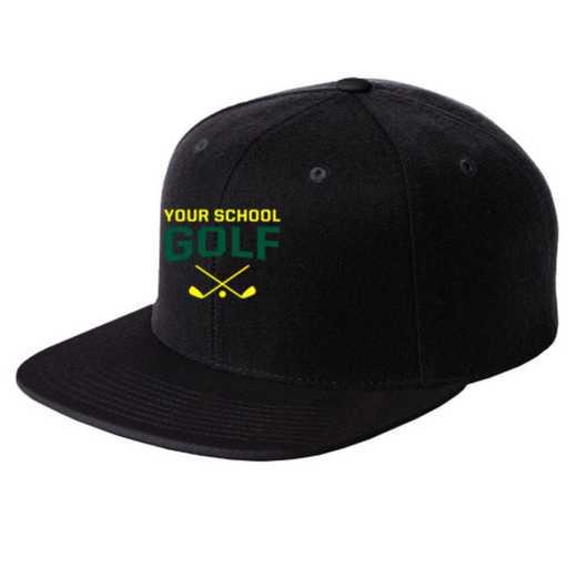 Golf Embroidered Sport-Tek Flat Bill Snapback Cap
