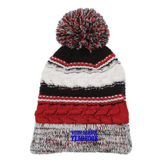 Embroidered Sport-Tek Pom Pom Knit Beanie