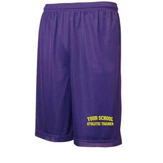 "Athletic Trainer Sport-Tek Embroidered Youth 7"" Classic Mesh Short"