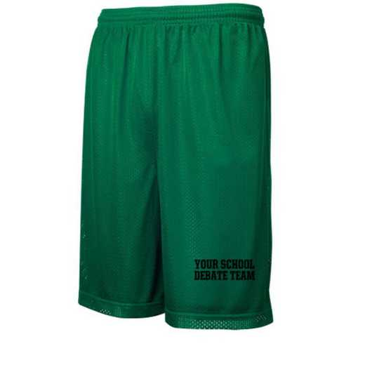 "Debate Team Sport-Tek Embroidered Youth 7"" Classic Mesh Short"