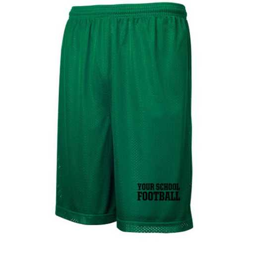 "Football Sport-Tek Embroidered Youth 7"" Classic Mesh Short"