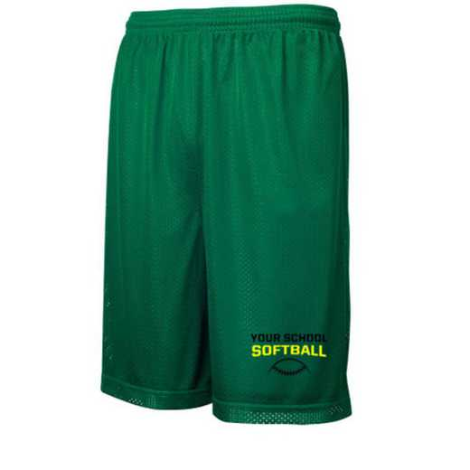 "Softball Sport-Tek Embroidered Youth 7"" Classic Mesh Short"