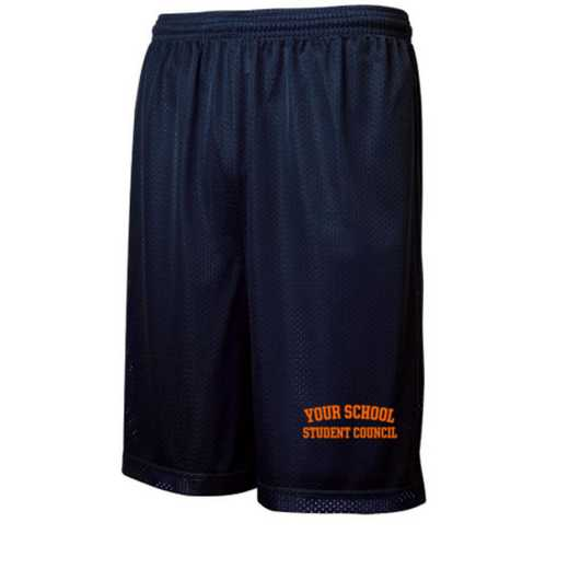 "Student Council Sport-Tek Embroidered Youth 7"" Classic Mesh Short"