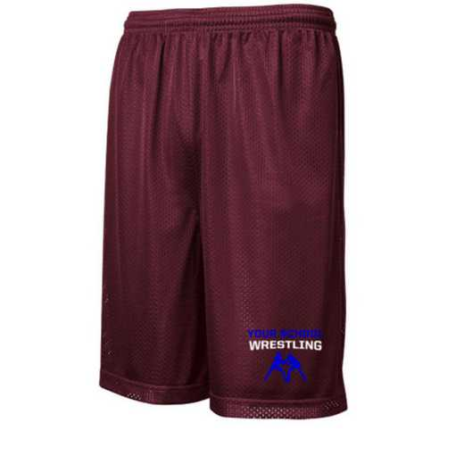 "Wrestling Sport-Tek Embroidered Youth 7"" Classic Mesh Short"