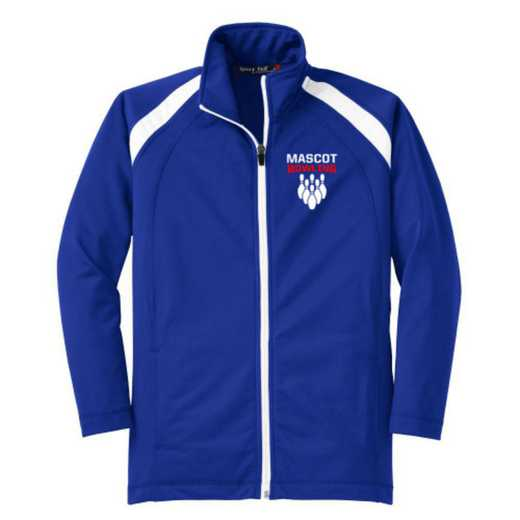Youth Bowling Athletic Embroidered Tricot Track Jacket