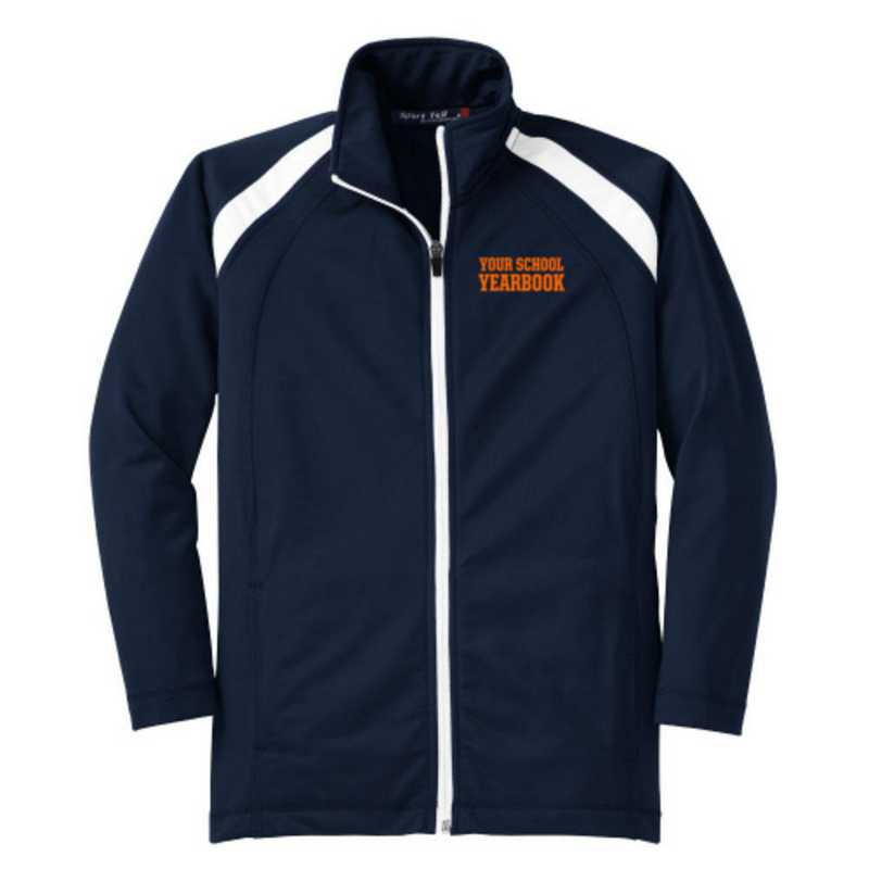 Youth Athletic Embroidered Tricot Track Jacket