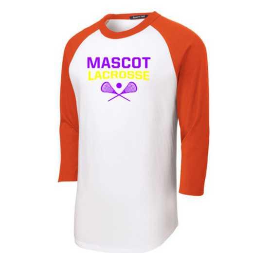 Lacrosse Youth Sport-Tek Baseball T-Shirt