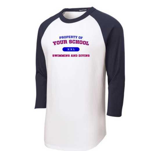 Swimming and Diving Youth Sport-Tek Baseball T-Shirt