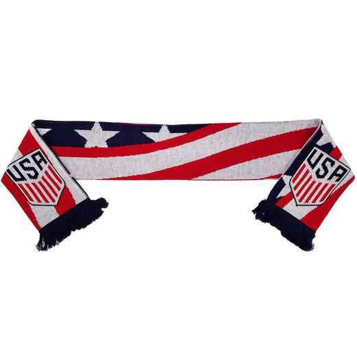 USA-17-BANNER: US Soccer Scarf - Banner