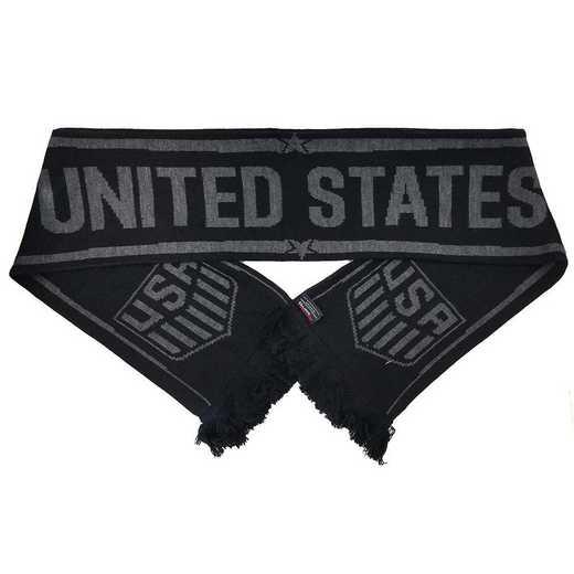 USA-17-BLKOUT: US Soccer Scarf - Blackout
