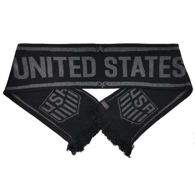USA-17-BLKOUT: US Soccer Scarf - Blackout